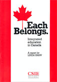 Each Belongs - Integrated Education in Canada cover image