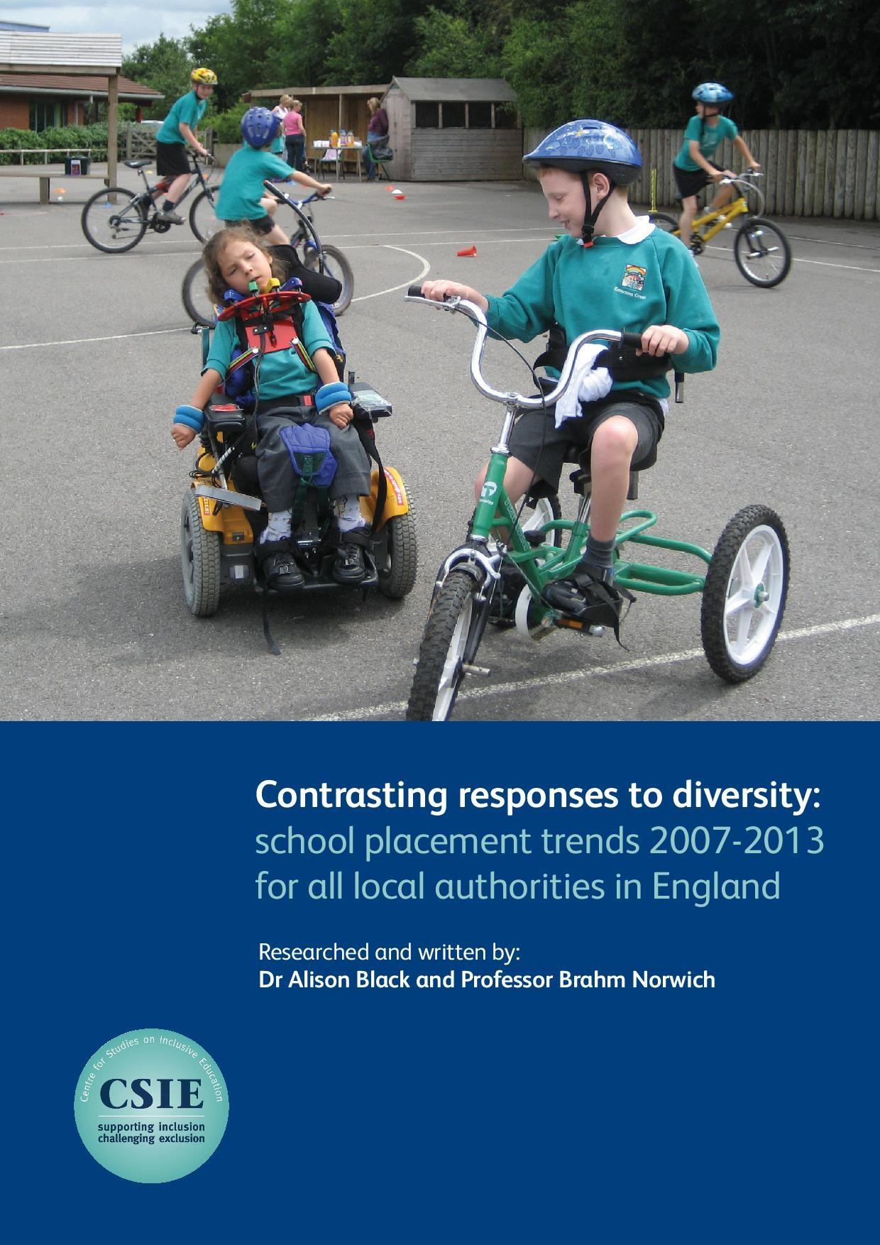 Contrasting responses to diversity: school placement trends 2007-2013 for all local authorities in England (2014) cover image
